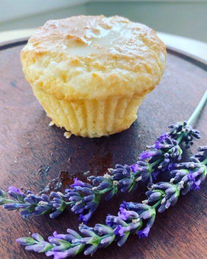 Keto Lemon Cream Cheese Muffins